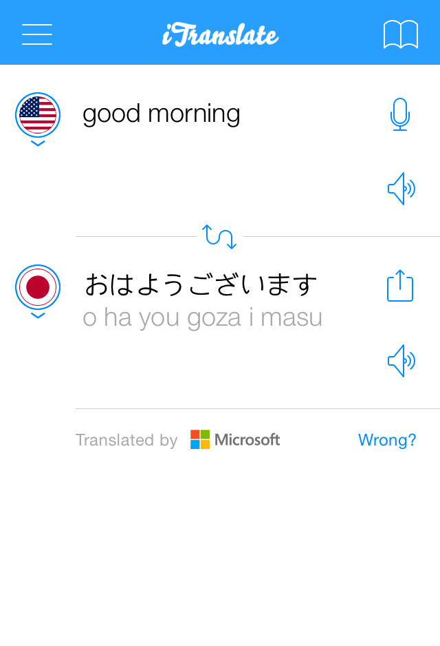 iTranslate translator app languages