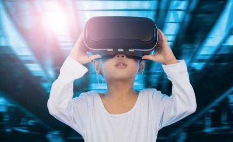 Tech, VR, grandkids, futuristic, 2050, household chores
