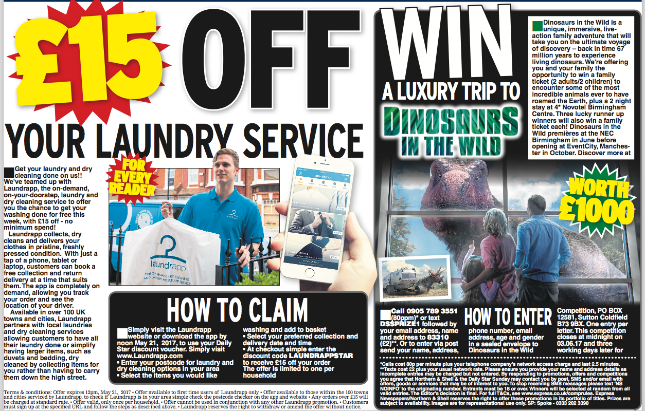 Daily Star, Sunday, Laundrapp Promo