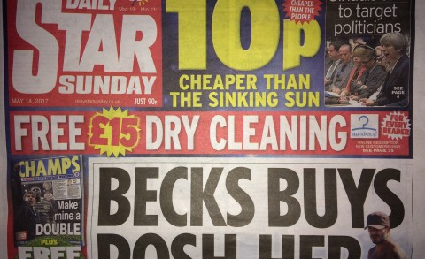 Daily Star, Laundrapp Promo, Front page