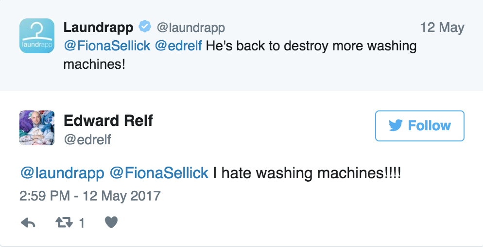 Washing Machines, Ed Relf, CEO