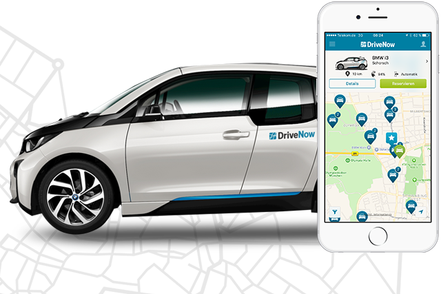DriveNow, Car Club, Car-sharing, app, on-demand, drive, London