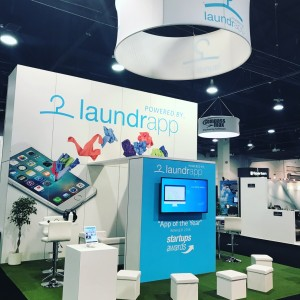 Clean2017, Laundrapp Booth, expo