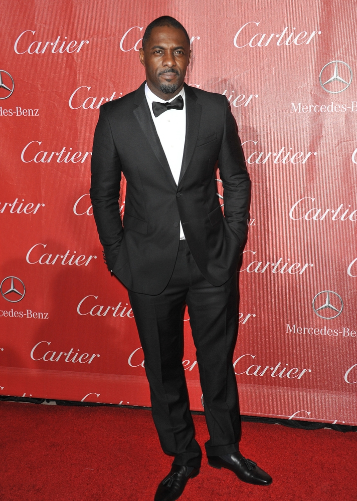 Idris Elba on the red carpet in his tuxedo