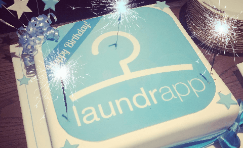 Laundrapp birthday cake