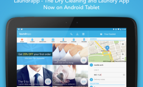 Laundrapp for Android tablets