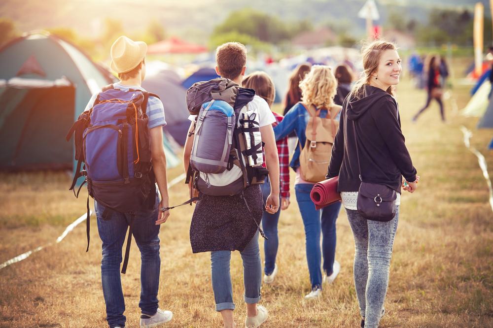 Teen wearing rucksack