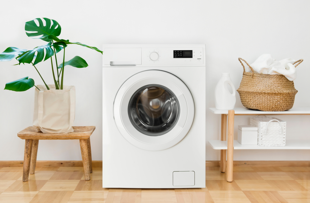 Washing machine in laundry room