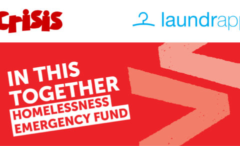 Laundrapp supporting Crisis on their In This Together campaign, a homeless emergency fund